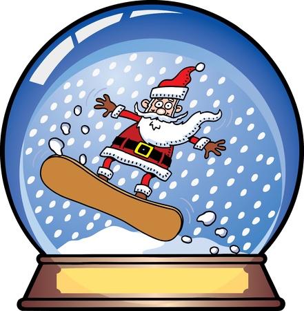 Santa Snow Globe Stock Vector - 10039552