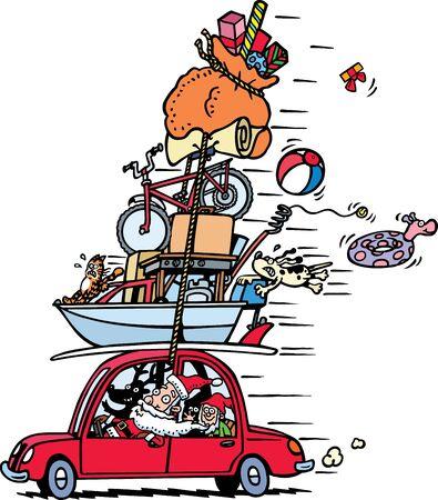 car ornament: Santa