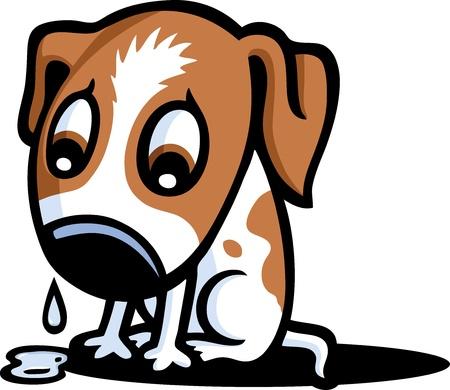 Sad Puppy Stock Vector - 10120743