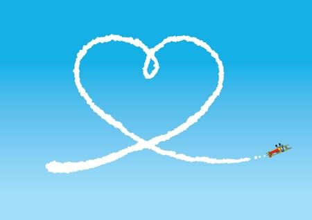 Sky Writing Illustration
