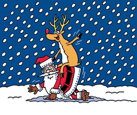 Santas Silly Vector