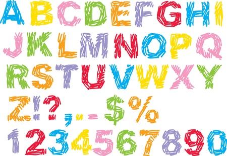 abecedario: Alfabeto garabato