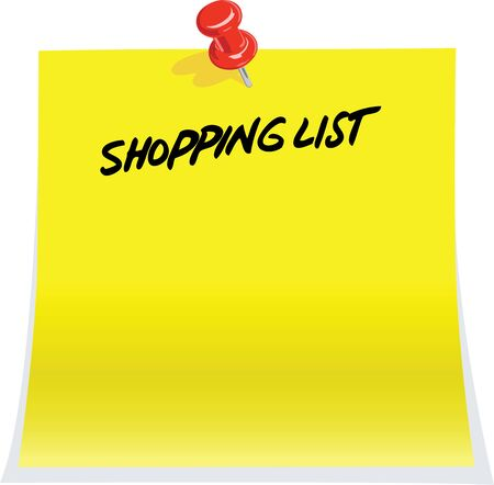 shopping list: Shopping list Illustration