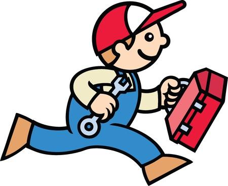 Male Mechanic Stock Vector - 10282355