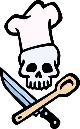 Skull Chef  Stock Vector - 10304607