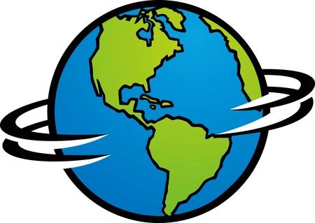 norte: Girar la Tierra Vectores