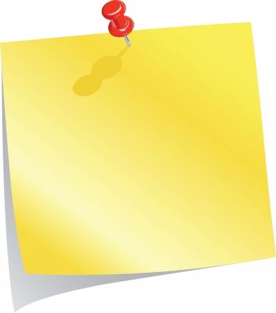 push pin: Blank Reminder Note