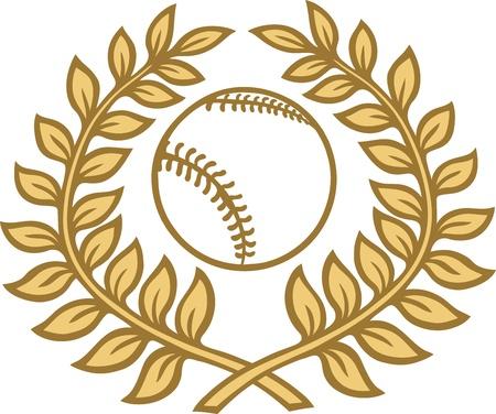 laurel leaves baseball Stock Vector - 10517662
