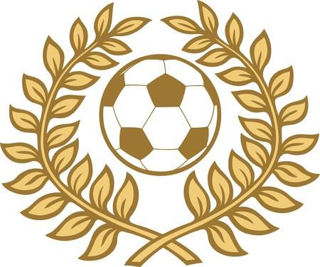 laurel leaves football Vector