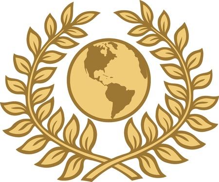 laurel leaves world Stock Vector - 10517663
