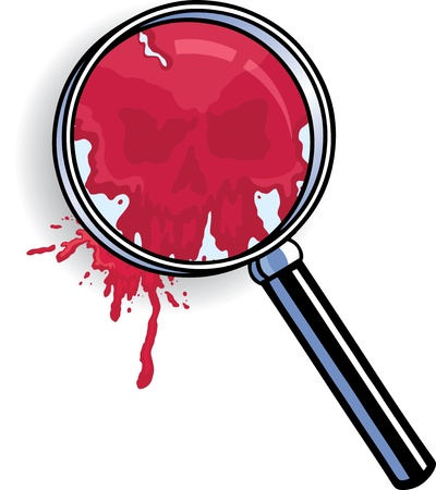 forensic science: Microscope Blood Skull