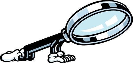 Magnifying Glass Guy Stock Vector - 10577653