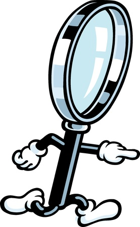 Magnifying Glass Guy Stock Vector - 10577656