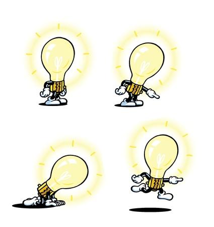 cartoon light bulb: Lightbulb Guy