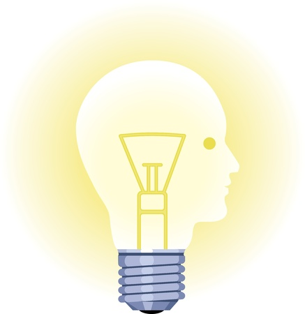 Lightbulb Face Vector