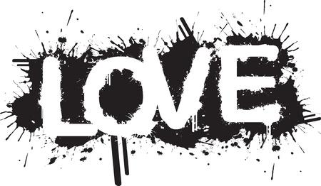graffiti alphabet: Liebe Splatter
