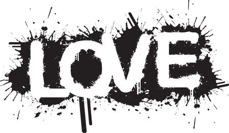 alphabet graffiti: Splatter Amour Illustration
