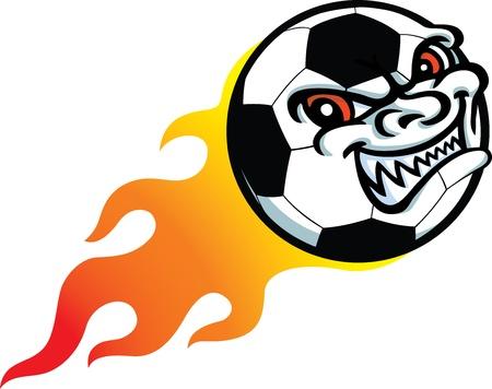 Flaming Evil Foortball Stock Vector - 10657298