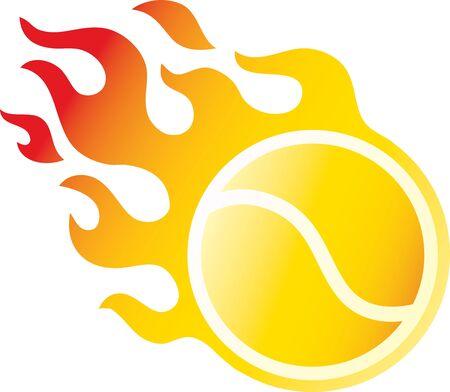 Flaming Tennisball Illustration
