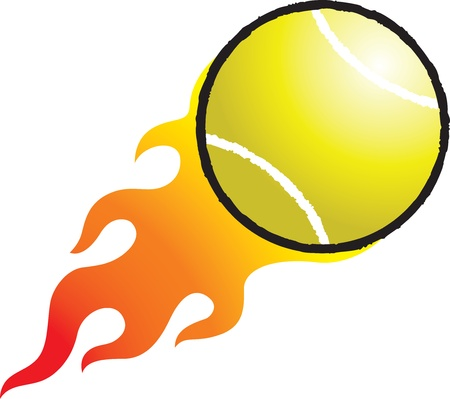 tennisball: Flaming Tennisball Illustration