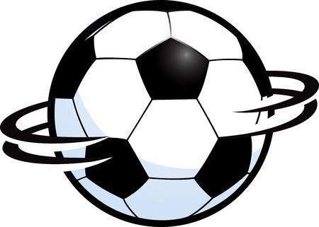Spinning Soccer Ball Stock Vector - 11977414