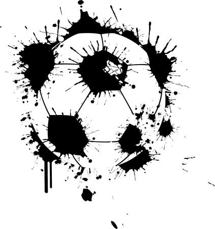 落書き: 落書きサッカー ボール