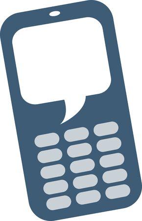 telefono caricatura: Burbuja del discurso de Mobile