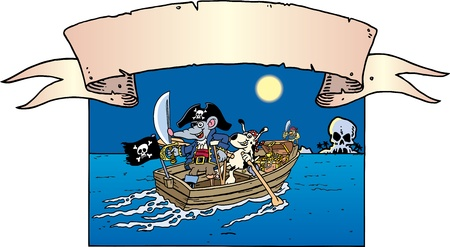 money cartoon: Pirates