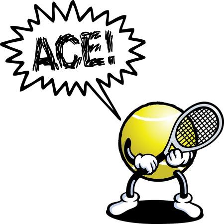 voices: Tennis Man Illustration