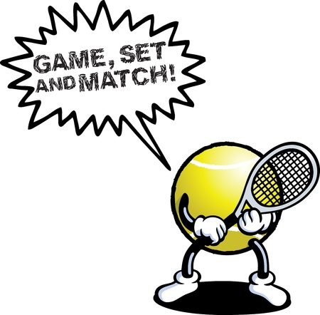 Tennis Man Illustration