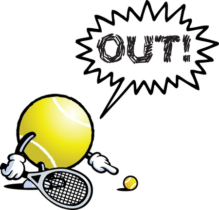 Tennis Mann Vektorgrafik