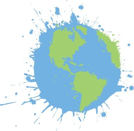 Splattered World Graffiti