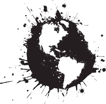 Splattered World Graffiti Vector