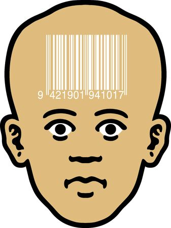 Barcode Head Stock Vector - 12748593