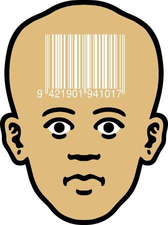 Barcode Head Stock Vector - 12748593