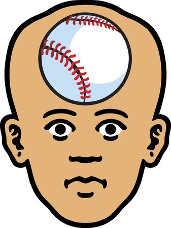 Baseball Head Stock Vector - 12748588