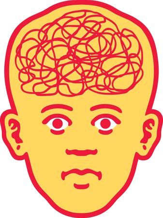 Brain Head Stock Vector - 12748580