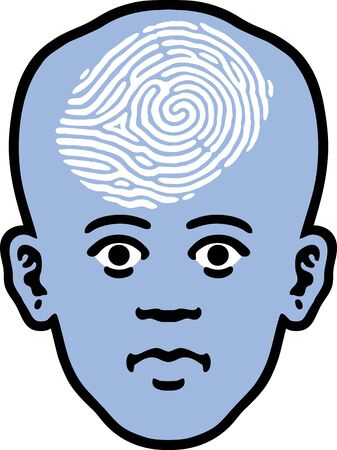 Fingerprint Head Vector
