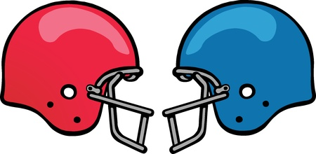 football helmet: Gridiron Helmet Illustration