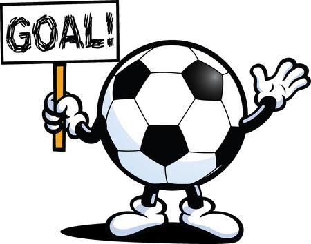 soccer goal: Football Guy Illustration
