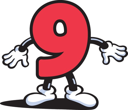 Number Guy Vector
