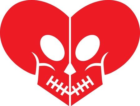 Skull Heart Vector