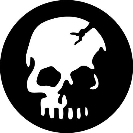 calavera pirata: Cráneo Círculo