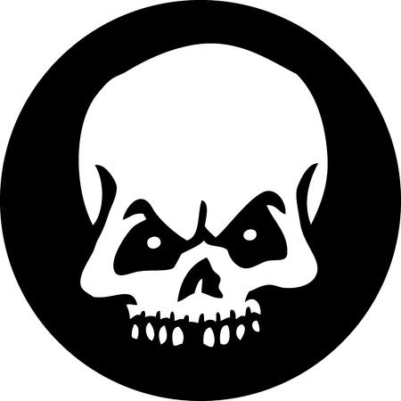 Skull Circle Vector