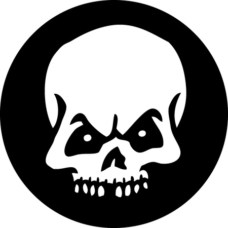 skull and cross bones: Skull Circle