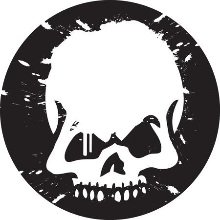 calavera caricatura: Cr�neo de Graffiti Vectores