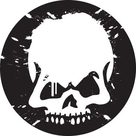 skeleton skull: Skull Graffiti Illustration