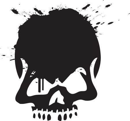 Skull Graffiti 向量圖像