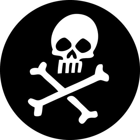 skull and cross bones: Skull
