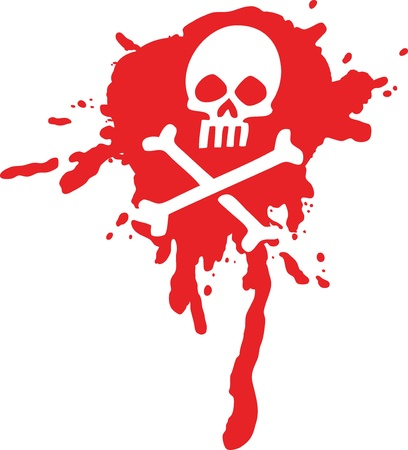 pirates flag design: Blood Skull